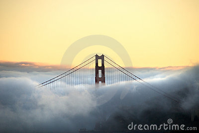 Golden Gate Bridge Tower and Fog