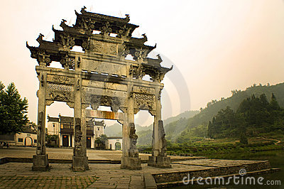 Entrance gate to xidi village, south china