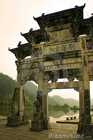 Glimpse from the past, ancient gate in south china