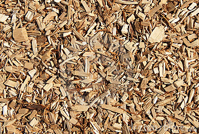 Wood chips mulch texture