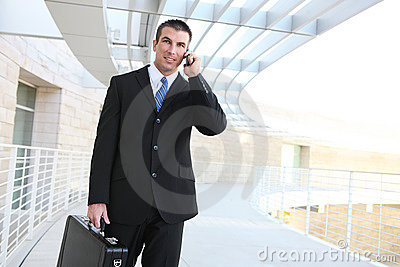 Handsome Business Man on Phone