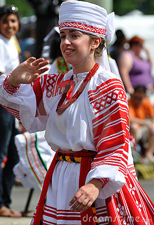 Ukranian girl in parade