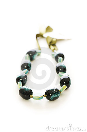 Woman necklace isolated