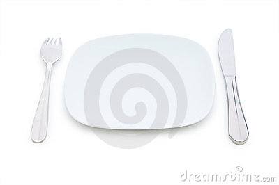 Set of table utensils isolated