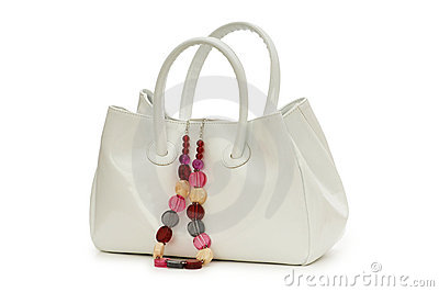 Woman bag and necklace