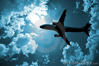 Airplane and cloud