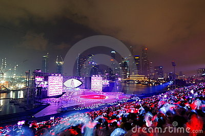 Night finale performance during NDP 2009