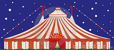 Big top by night
