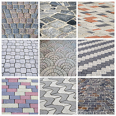 Italian cobbleston - collage