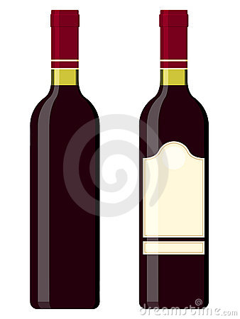 Wine bottles - red