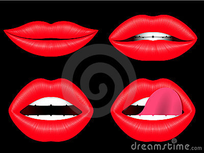 Female lips collection
