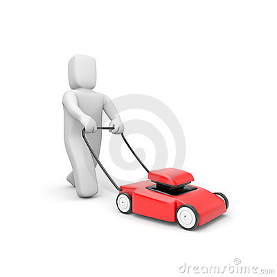 Gardener with mover