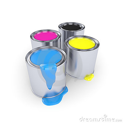 CMYK - Can with a paint