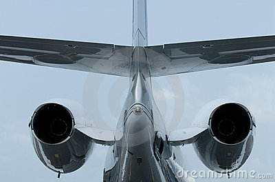 Tail of business jet