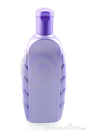 Purple shampoo bottle