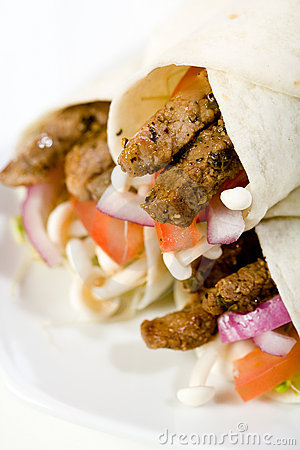 Beef Vegetable Wraps