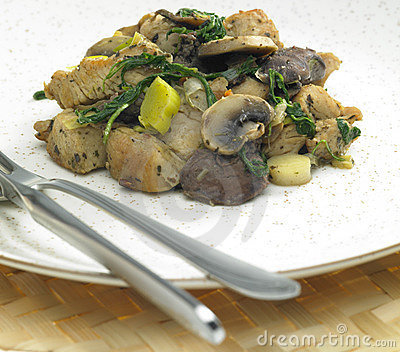 Turkey meat with chicken livers