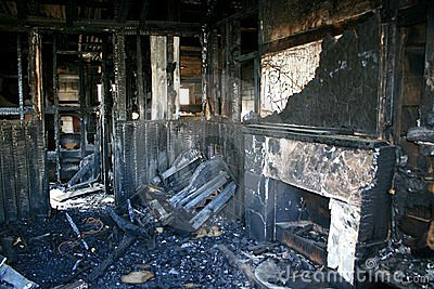Burnt interior