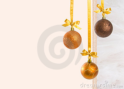 Christmas Baubles with Copy Space