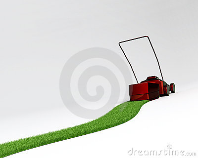 Reverse lawn mover