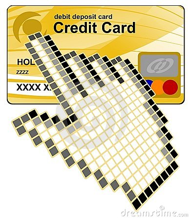 Click  credit card