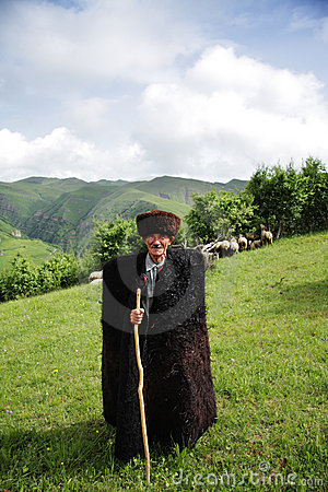 Herdsman in mountains