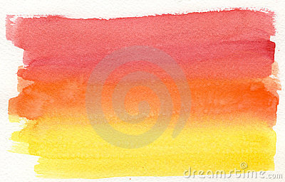 Yellow to red watercolor background