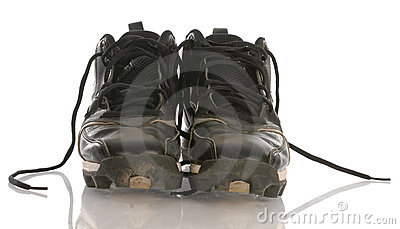 Dirty football cleats