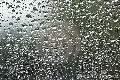 Waterdrops on window