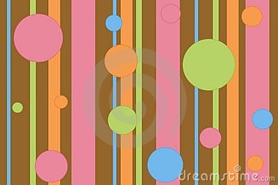 Stripey polka dot background