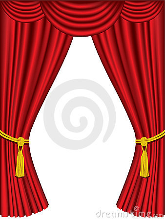 Theater curtains with drapes
