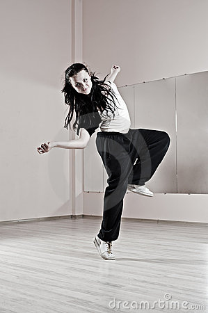 Smiley woman in dance