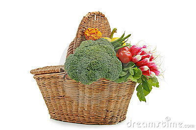 Wicker basket of vegetable