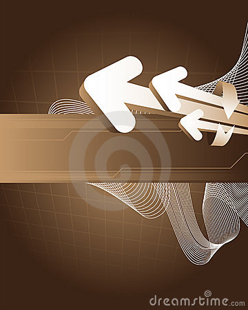Brown abstract background with arrows