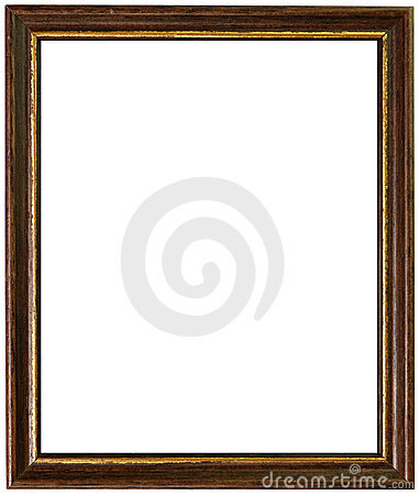 Gold and wooden antique frame