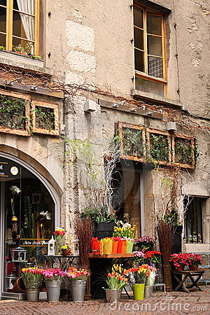 Romantic flower shop