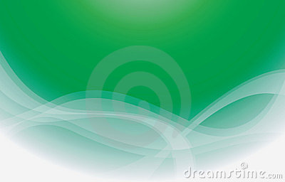 Green Curve Background