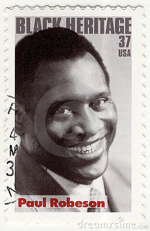 Stamp with Paul Robeson