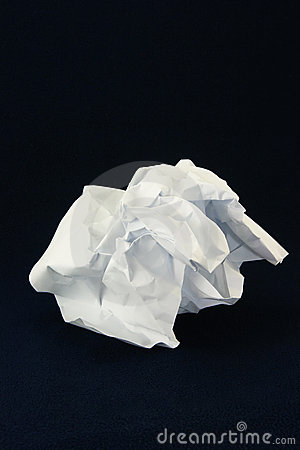 Creased paper.