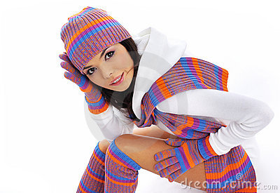 Winter fashion girl