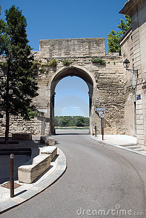 Old city entrance Avignon