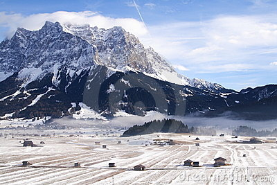 Landscape around the Zugspitze