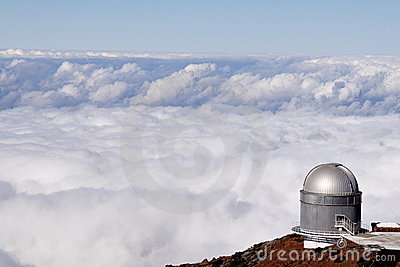 Observatory with a sea of clouds