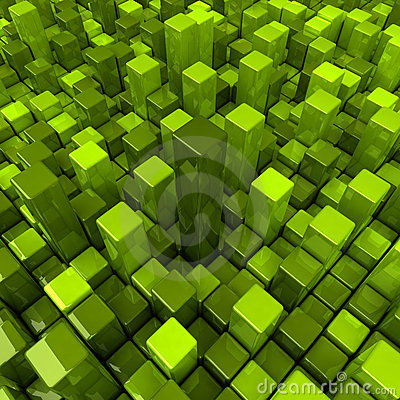 Green boxes background