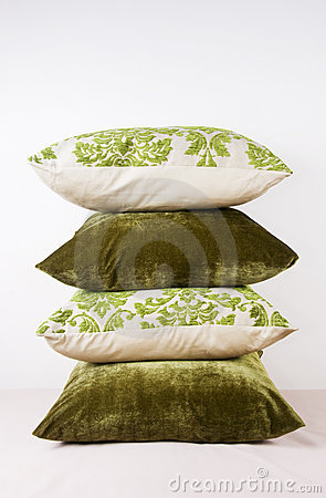 Cushions in green
