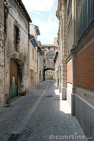 Narrow cobbled old street