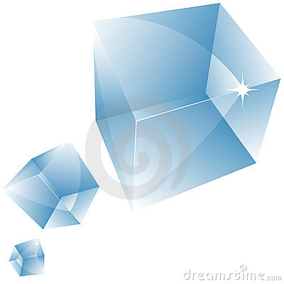 Vector transparent cube.