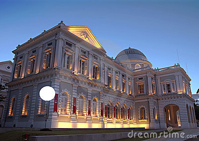 Singapore History Museum at Evening