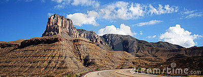 A Highway to the Guadalupe Mountains