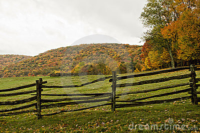 Autumn Pasture and Fence